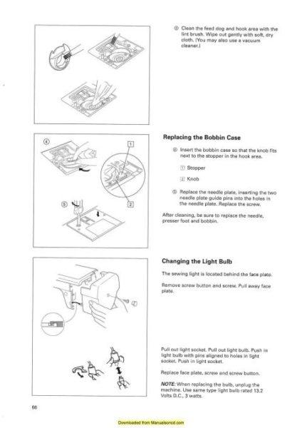 Elna 6005 Sewing Machine Instruction Manual Heirloom Edition