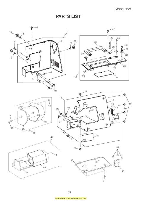 necchi ev7 sewing machine service manual