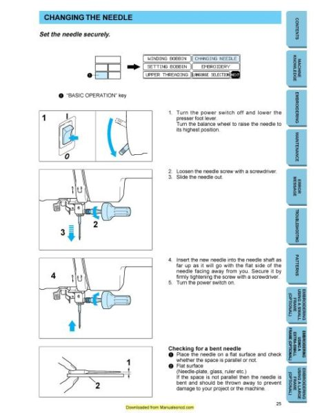 Brother PE-150 Sewing Machine Instruction Manual