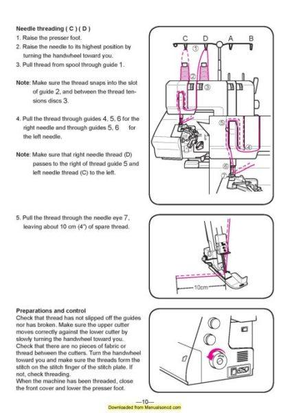 Husqvarna Huskylock 905-910 Sewing Machine Instruction Manual