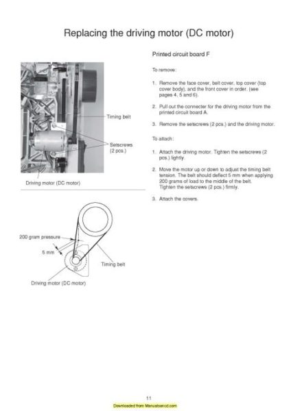 Elna Lotus Sewing Machine Service Manual Includes Parts List
