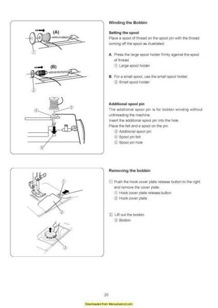 Janome 521 Sewist Sewing Machine Instruction Manual