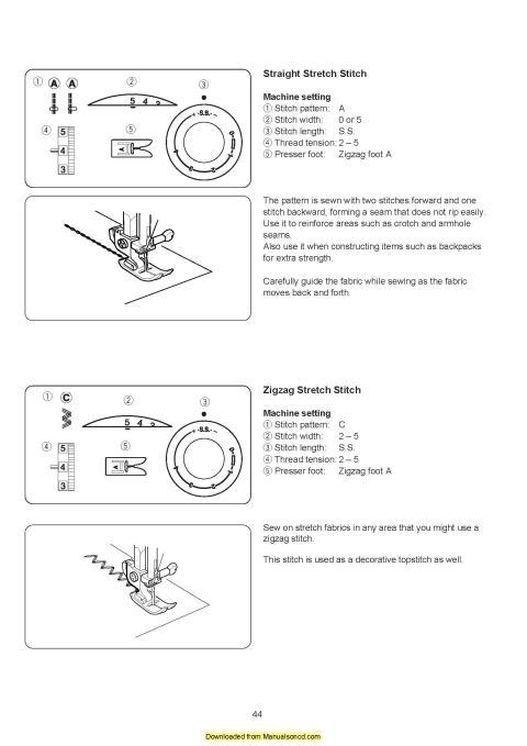 janome sewist 521 instruction manual