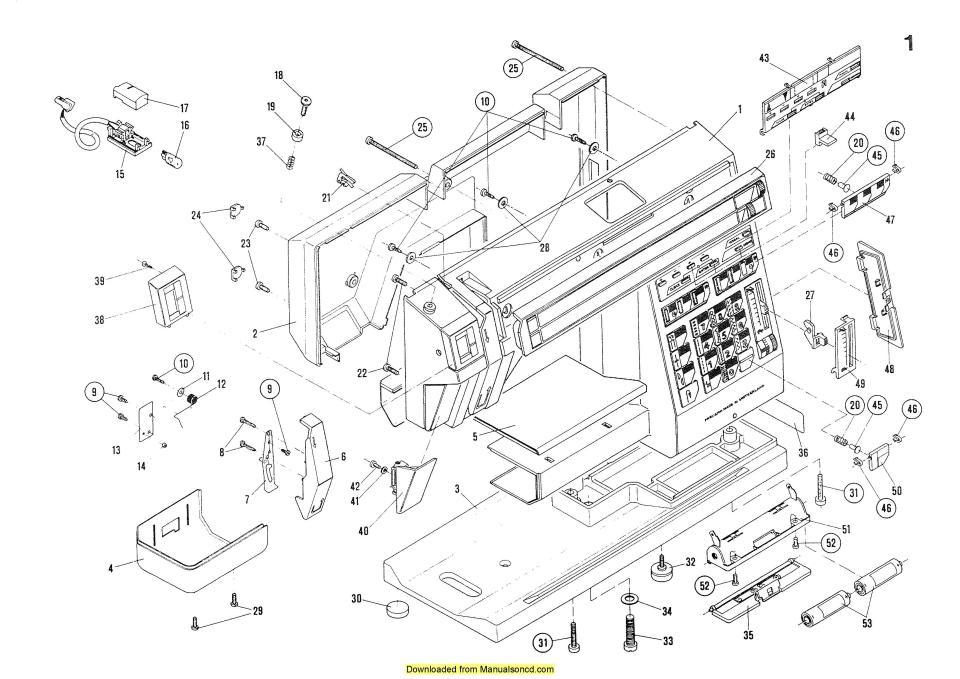 Elna 40 Sewing Machine ServiceParts Diagrams Manual Simple Diagram Of A Sewing Machine