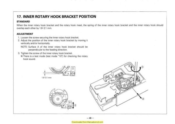 Brother 895-PC7500-ESi2 Sewing Machine Service-Parts Manual