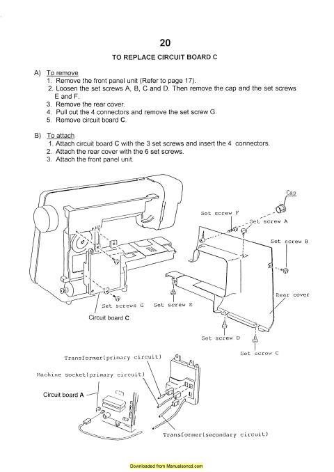 Elna 6003 Sewing Machine Service-Parts Manual