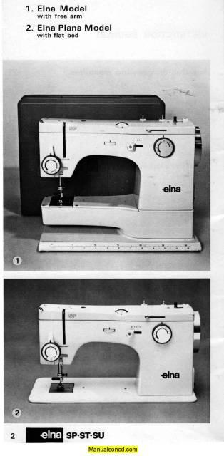 Elna SP ST SU Sewing Machine Instruction Manual Cool Elna Super Sewing Machine Manual