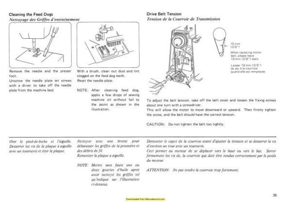 Janome 340-341 Sewing Machine Instruction Manual