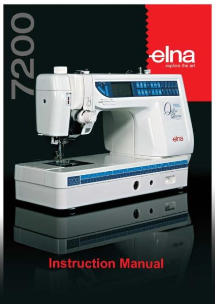 Elna 7200 Quilter's Dream Pro Sewing Machine Instruction Manual