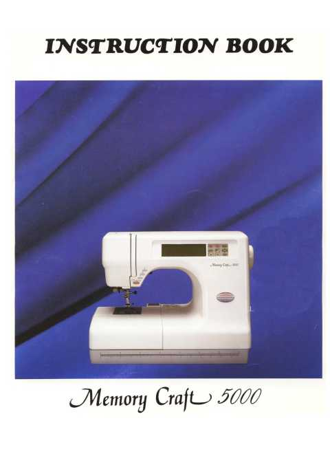 Janome 5000 memory craft sewing machine instruction manual for Janome memory craft 9000 problems