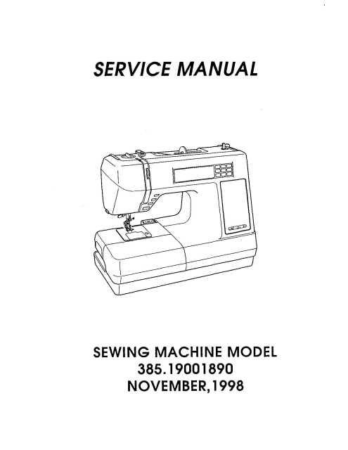 Sewing Machine Wiring Diagram - Wiring Diagram Update