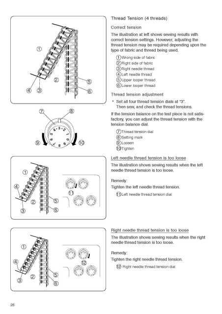 Elna 264 Overlock Sewing Machine Instruction Manual