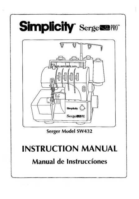 bonus in PDF Format Book User/'s Guide SIMPLICITY SW432 Serger  Serge PRO  Instruction  Operating manual
