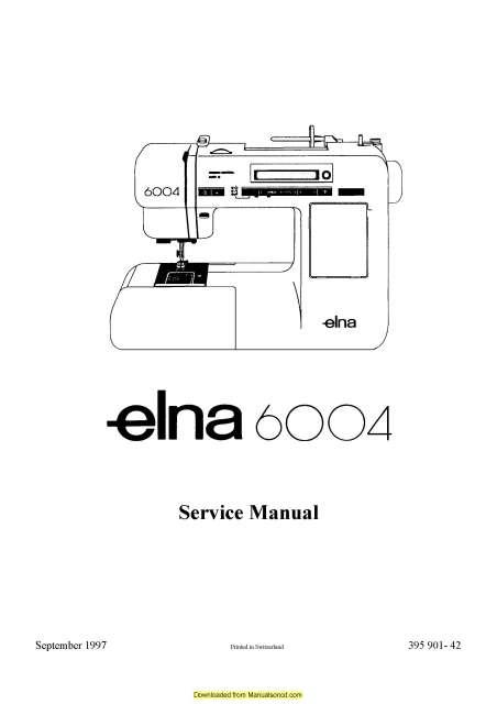 elna 6004 sewing machine service manual plus parts