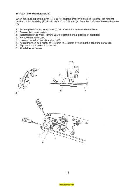 Janome 3000 Memory Craft Sewing Machine Service