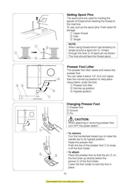 Janome 15822 Sewing Machine Instruction Manual