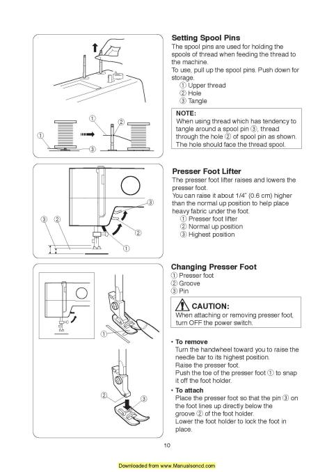 Sewing Machine Instruction Manual