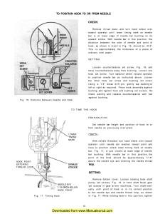 Singer 221 Sewing Machine Timing