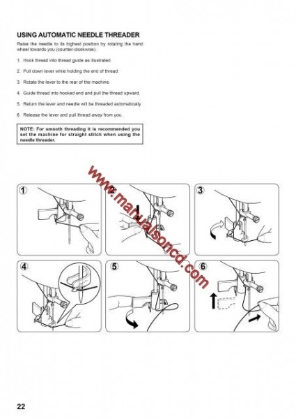 Singer Model 7258 Sewing Machine Instruction Manual