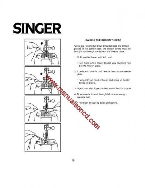 Singer 9022 Sewing Machine Instruction Manual pdf