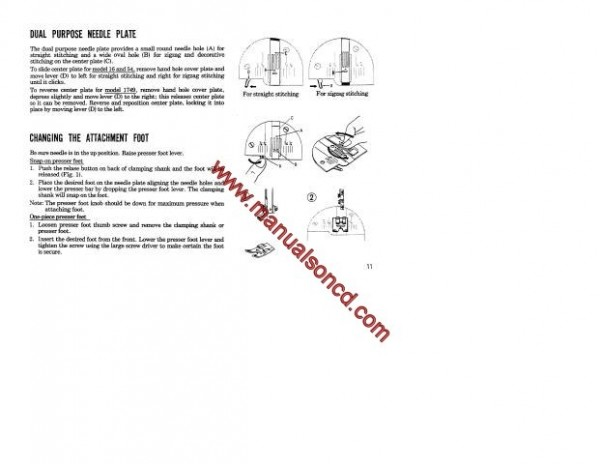 Kenmore Model 158.17490 Sewing Machine Instruction Manual