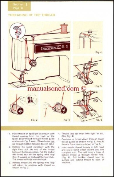 Kenmore Model 158.1212 - 1341 Series Sewing Instruction Manual