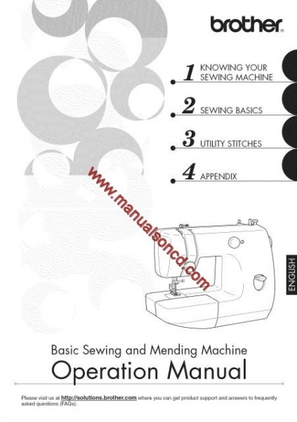 Brother LX3125 Sewing Machine Instruction Manual