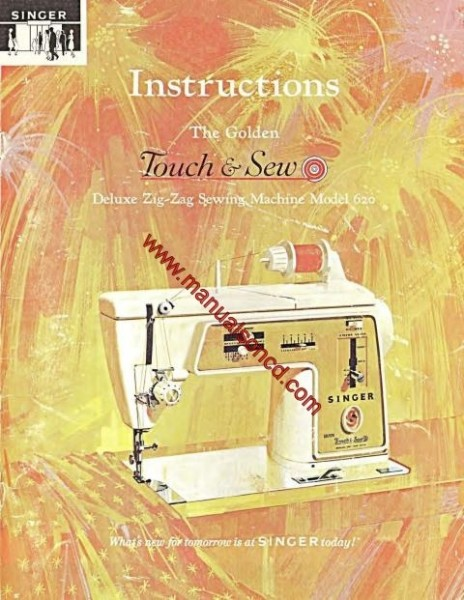 Singer 620 Sewing Machine Instruction Manual Touch & Sew