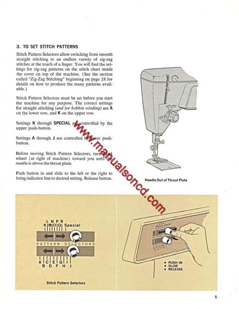 Singer 620 Sewing Machine Instruction Manual Touch N Sew