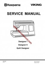 Husqvarna - Viking Service Manual Designer I - II And Quilt Designer