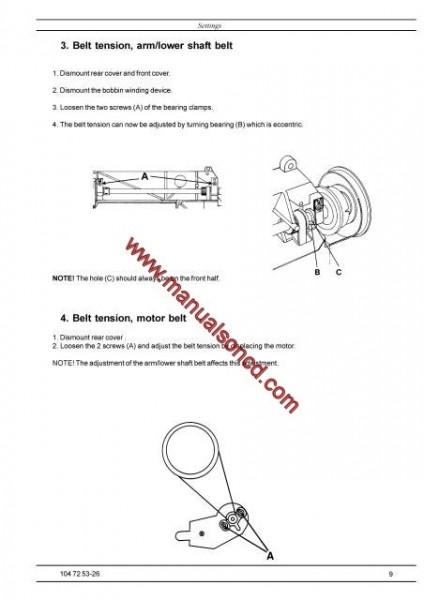 Husqvarna - Viking Service Manual Designer I - II And Quilt Designer
