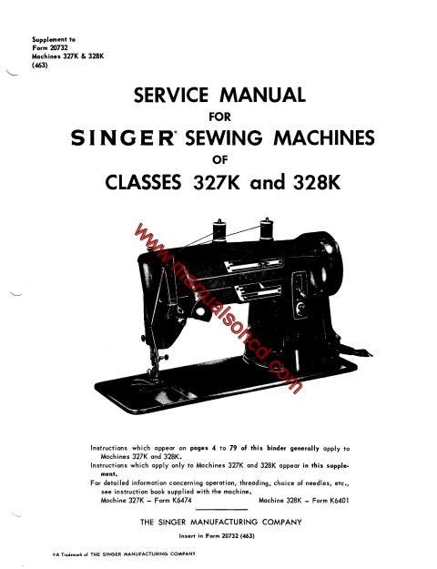 Singer 40K And 40K Sewing Machine Service Manual Simple Singer Sewing Machine Service