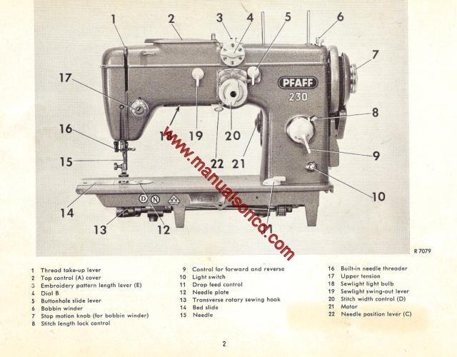 pfaff 230 260 sewing machine instruction manual rh manualsoncd com pfaff 1221 sewing machine manual pfaff 1221 sewing machine manual