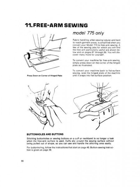 Singer 755 & 775 Sewing Machine Manual Touch & Sew