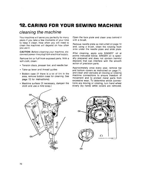 Singer 755 Amp 775 Sewing Machine Manual Touch Amp Sew