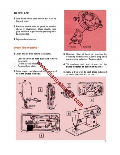 Singer 223 Sewing Machine Instruction Manual