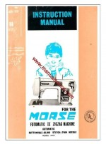 Morse 4300 Zig Zag Sewing Machine Instruction Manual Fotomatic III