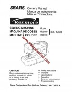 Kenmore Model 17628 Sewing Machine Instruction Manual 385.17628