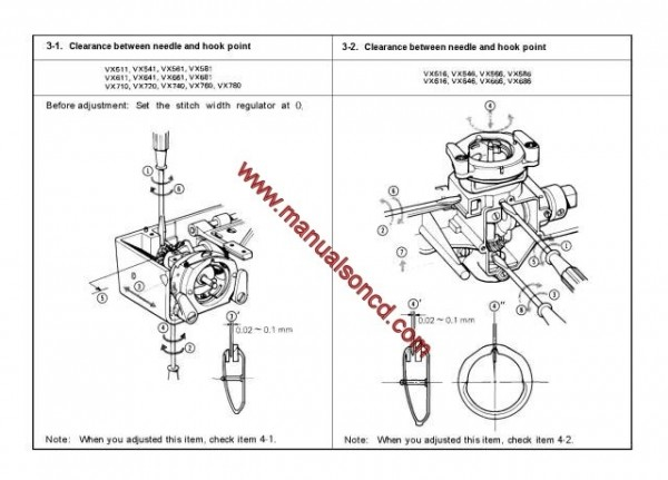 Brother VX Series Sewing Machine Service Manual