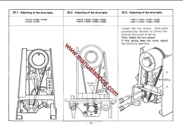 brother vx series sewing machine service manual rh manualsoncd com Brother Sewing Machine Repair Manuals Brother Sewing Machine Repair Manuals
