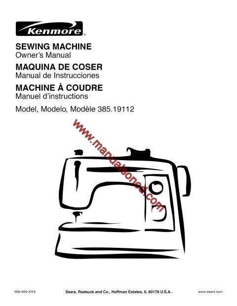 kenmore 385 19112 sewing machine instruction manual rh manualsoncd com Kenmore Serger 385 Stich Examples Kenmore Serger 385