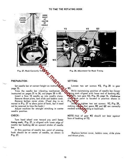 160b singer 500 503 sewing machine service manual