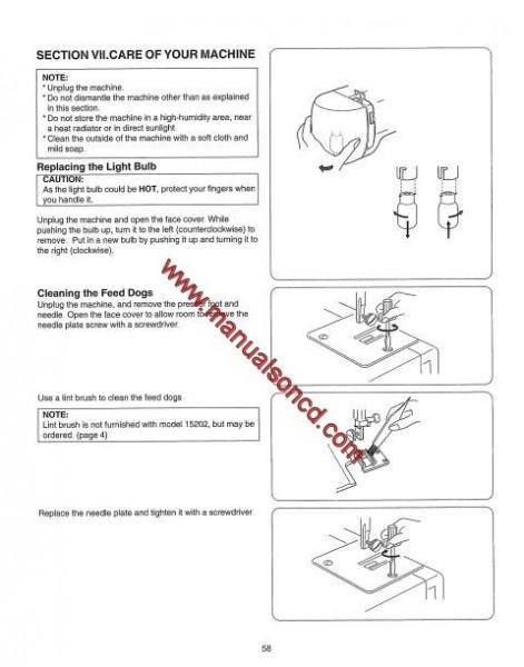 Kenmore 385.15202 - 15208 Sewing Machine Instruction Manual