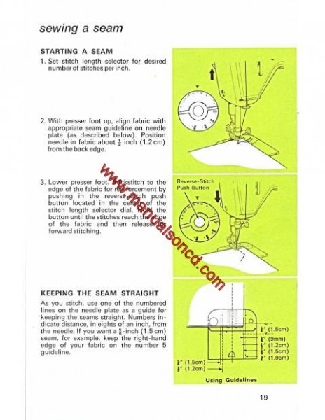 Singer 538 Stylist Sewing Machine Instruction Manual