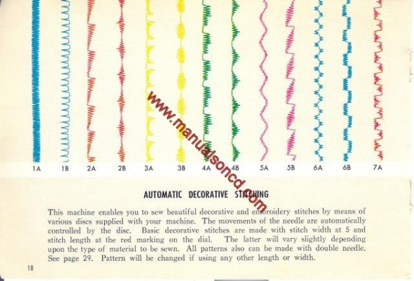 Kenmore Model 54 - 158.540 Sewing Machine Instruction Manual