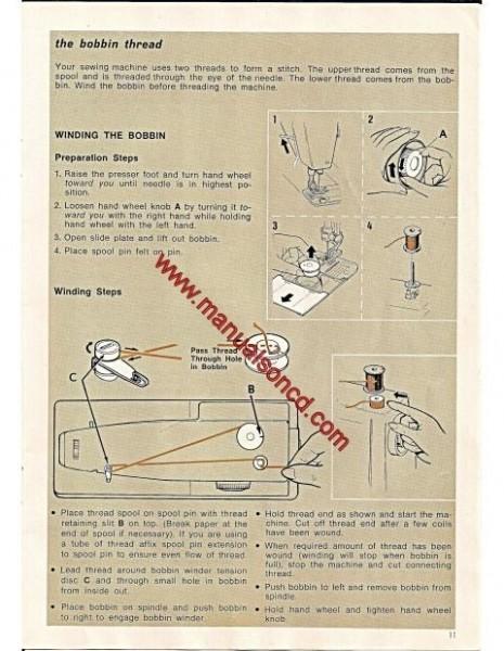 Singer 7105 Zig Zag Sewing Machine Instruction Manual Free-Arm