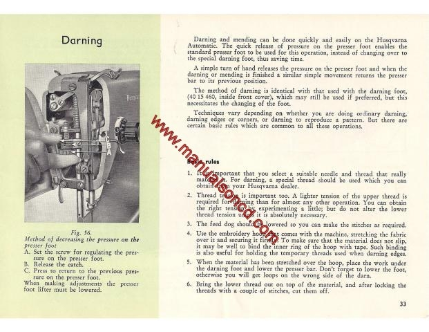 viking husqvarna model 6430 instruction manual