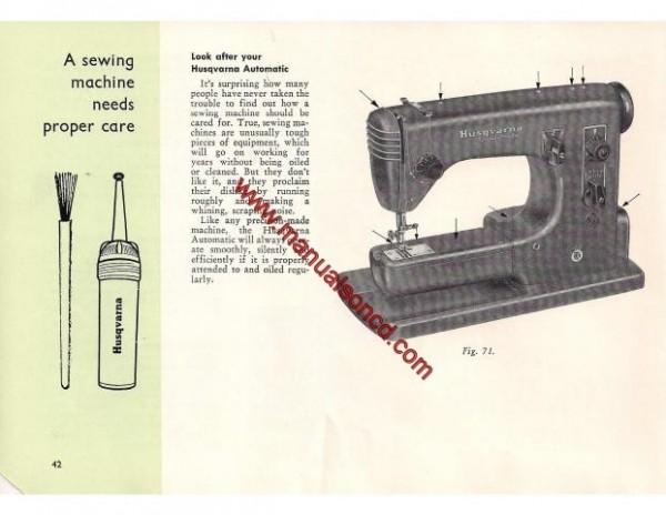 Viking Husqvarna Automatic Model 21E Sewing Machine Manual