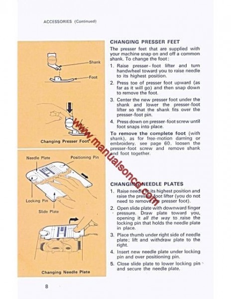 Singer 534 Stylist Sewing Machine Instruction/Owners Manual