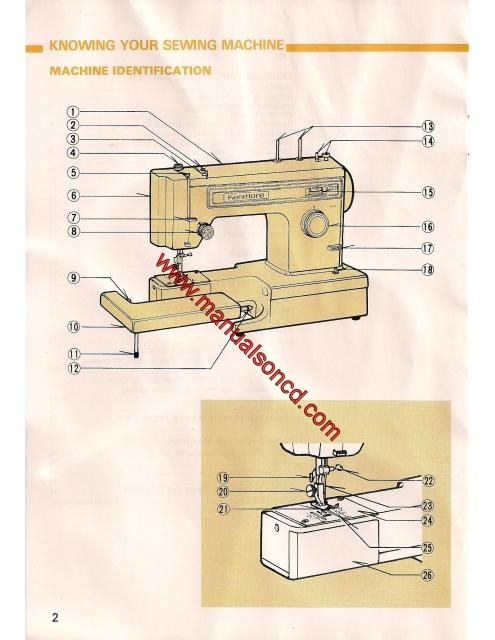 kenmore sewing machine owners manuals